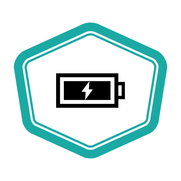"Badge icon ""Battery (2952)"" provided by Arjun Mahanti, from The Noun Project under Creative Commons - Attribution (CC BY 3.0)"