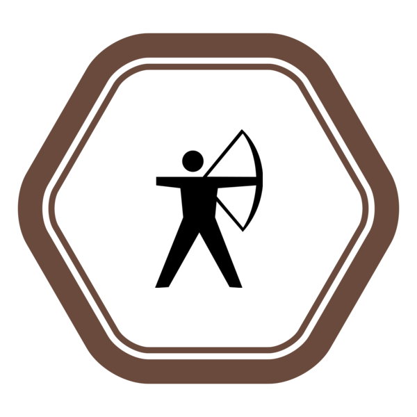 "Badge icon ""Archery (386)"" provided by The Noun Project under The symbol is published under a Public Domain Mark"